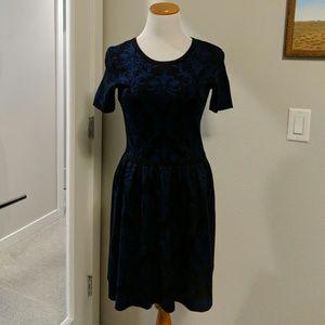 Damask Print Sweater Dress